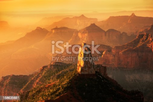 Subject: Sunrise view from the Point Imperial at the North Rim of Grand Canyon.