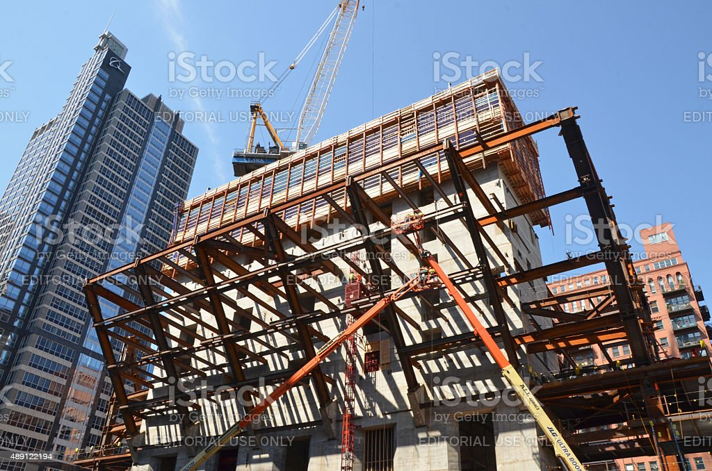 150 North Riverside Structural Frame stock photo