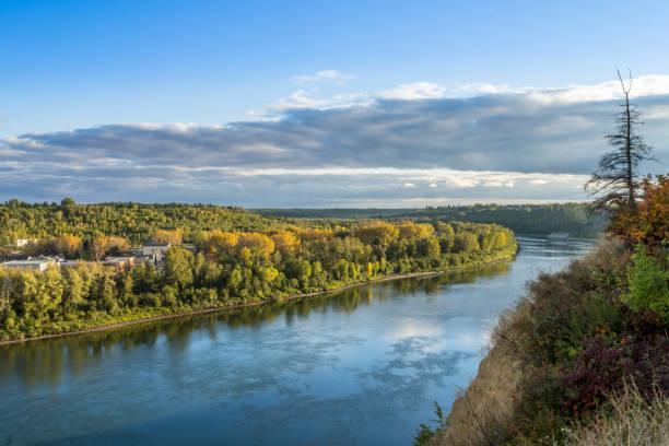 North Saskatchewan River valley, Edmonton, Alberta, Canada stock photo
