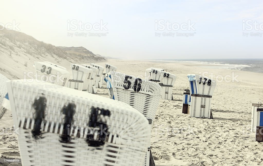 Nordsee Strandkorb royalty-free stock photo