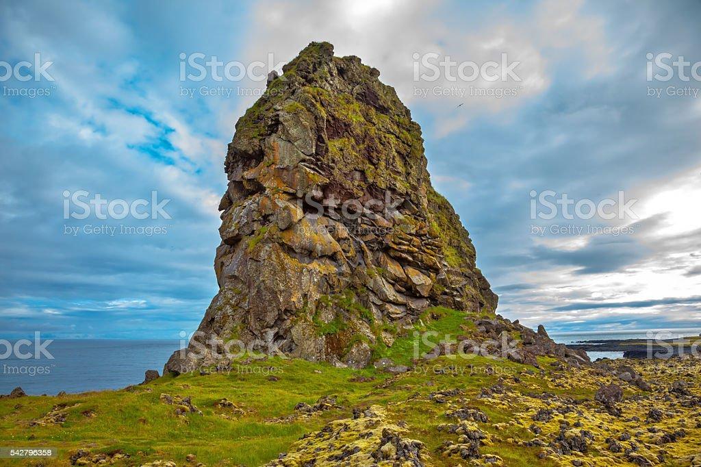 North sea coast of Iceland stock photo
