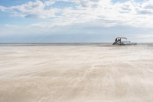 North Sea St. Peter-Ording Beach Wadden Sea Germany