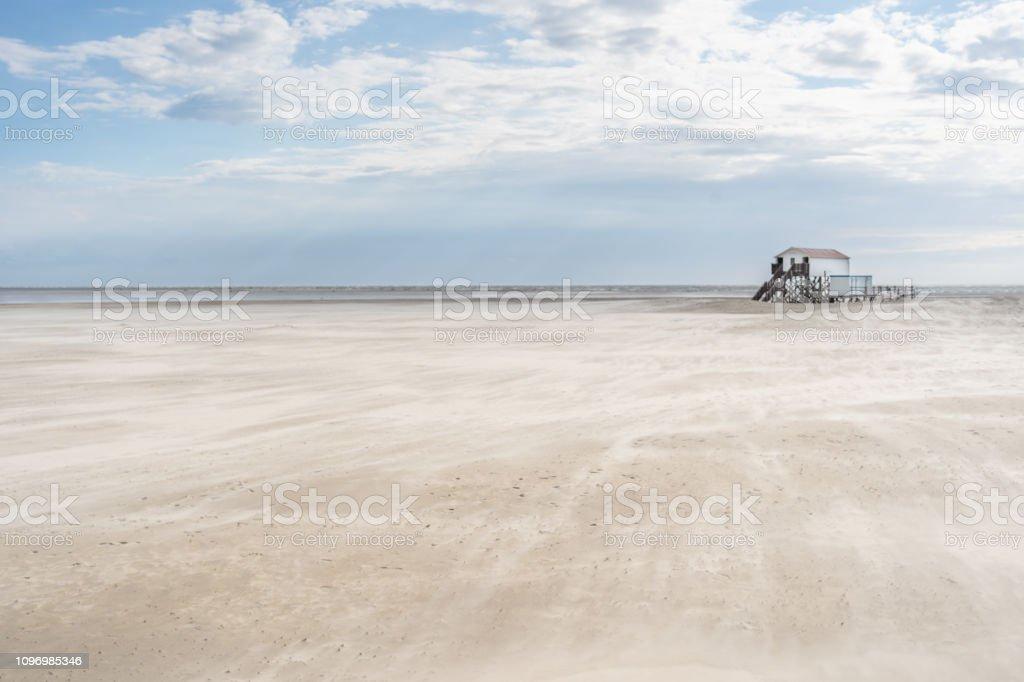 North Sea St. Peter-Ording Beach Wadden Sea Germany stock photo