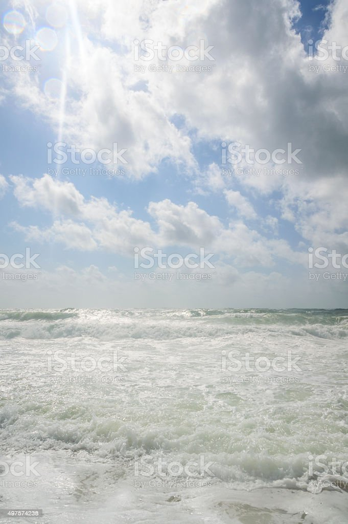 North Sea Surf, Costline of Sylt stock photo