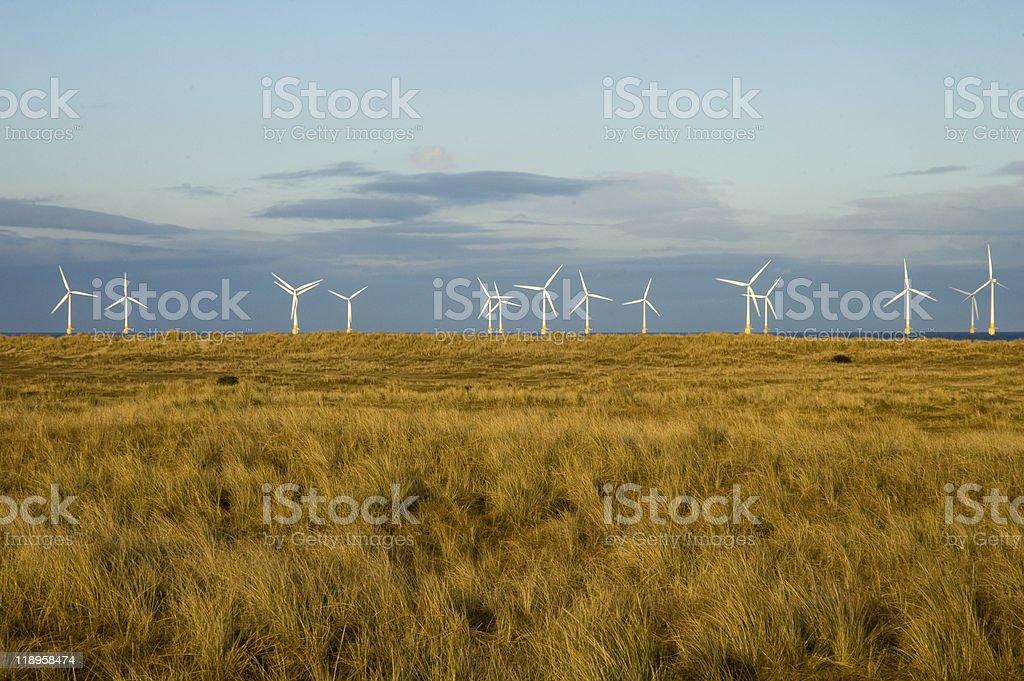 North Sea wind farm stock photo