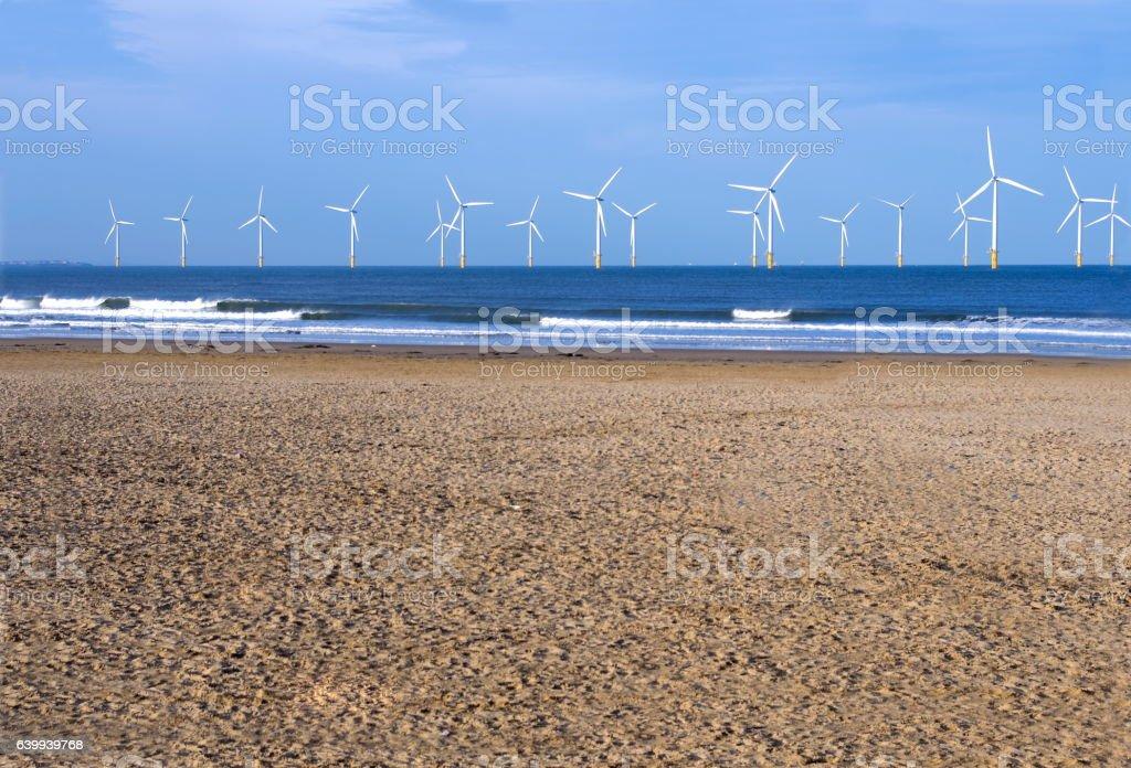North Sea Wind Turbines stock photo