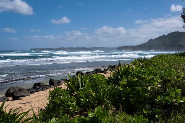 North Shore Beach on Kauai stock photo