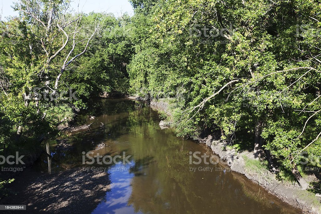 North Shore Channel, Jefferson Park, Chicago royalty-free stock photo