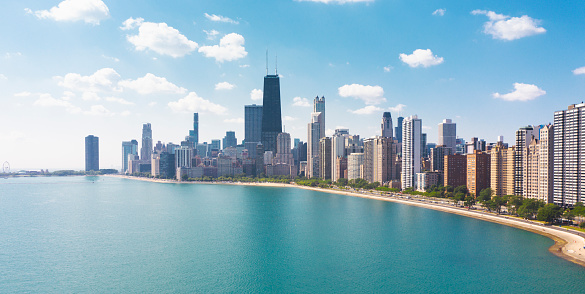 North Shore drive Chicago Illinois USA aerial view