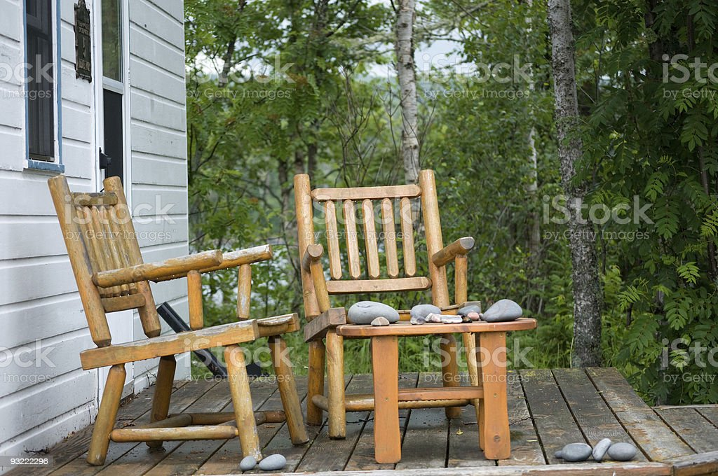 north shore porch royalty-free stock photo