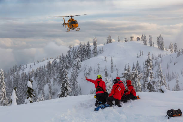 North Shore Search and Rescue are rescuing a man skier with a broken leg
