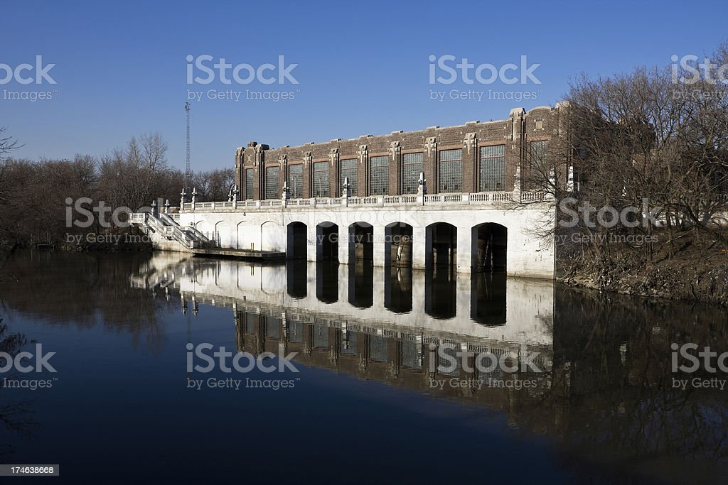 North Side Chicago Pumping Station royalty-free stock photo