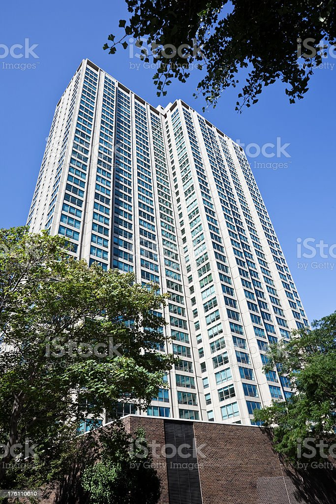 North Side Chicago Residential Skyscraper royalty-free stock photo