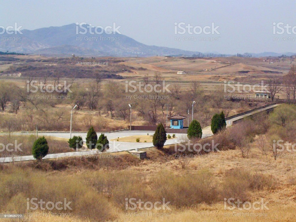 North, South Korea DMZ Bridge of No Return stock photo