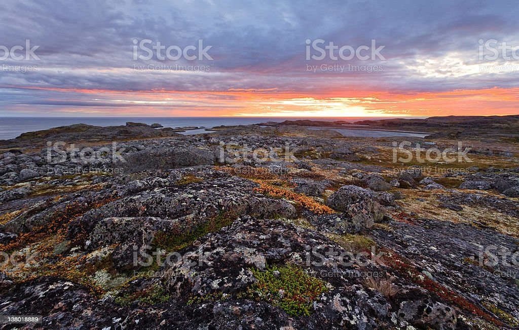 North sunrise stock photo