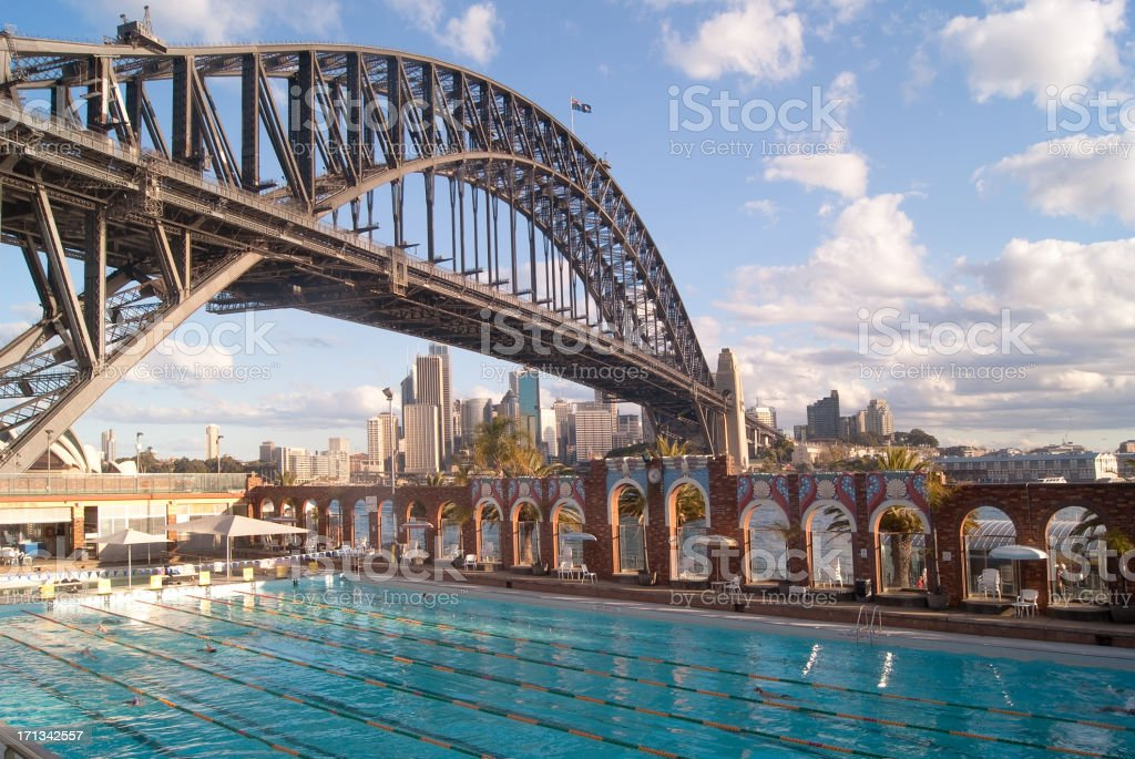 North Sydney Olympic Pool stock photo