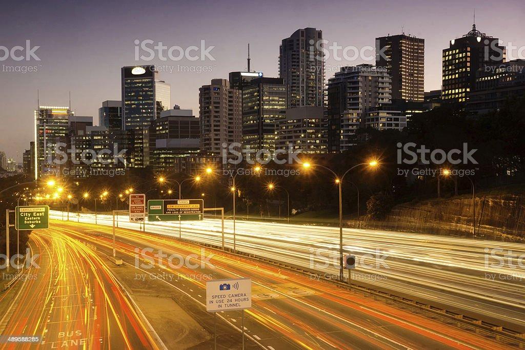 North Sydney - Pacific Motorway stock photo