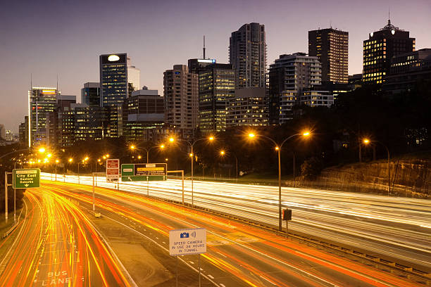 North Sydney - Pacific Motorway stock photo