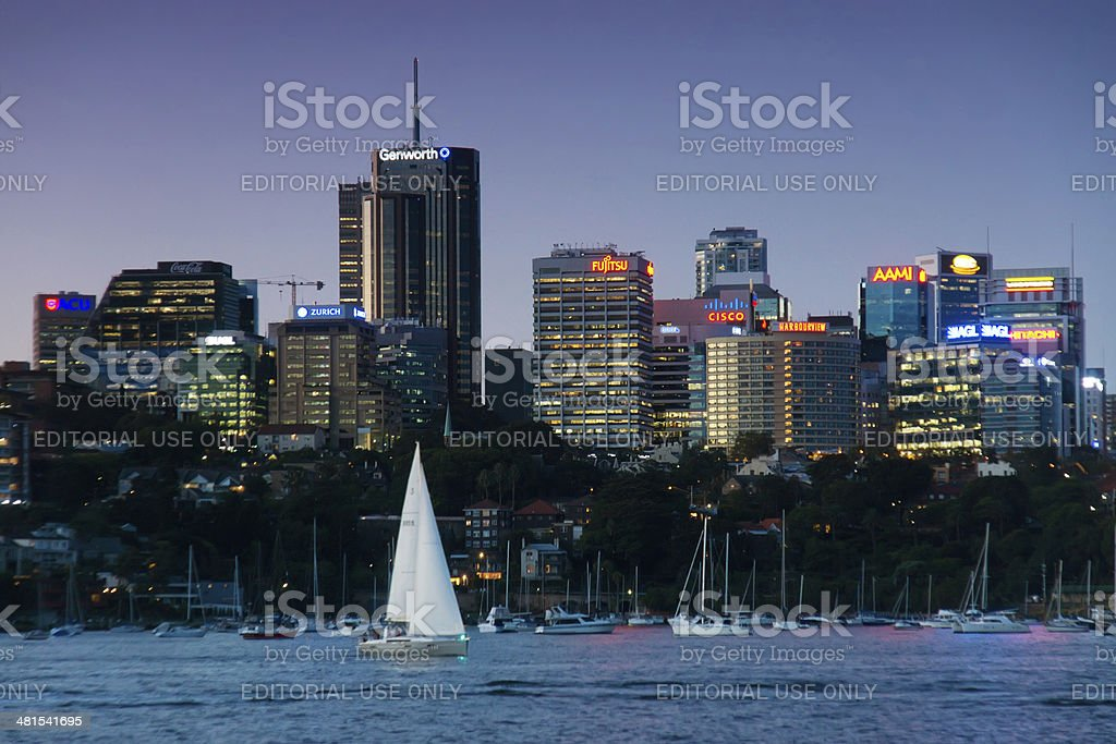 North Sydney - Skyline stock photo