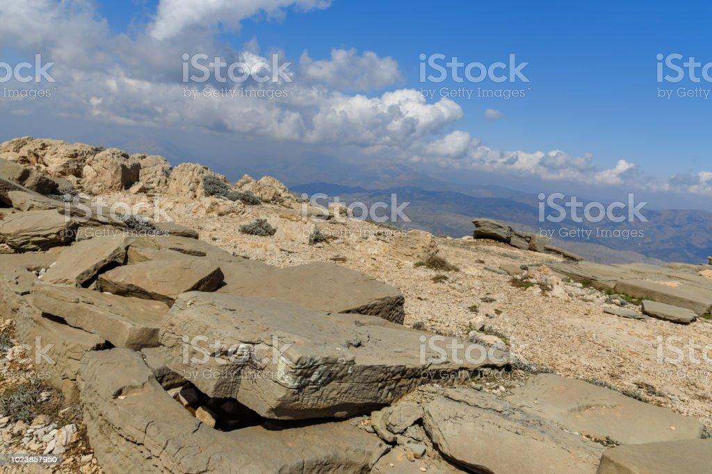 Terraza Del Norte En La Parte Superior Nemrut Mountainturkey