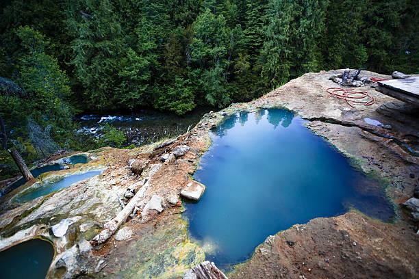 North Umpqua River Hot Springs Pools stock photo