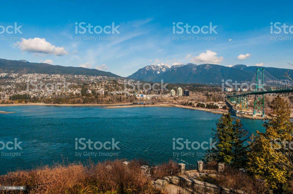 North Vancouver skyline stock photo