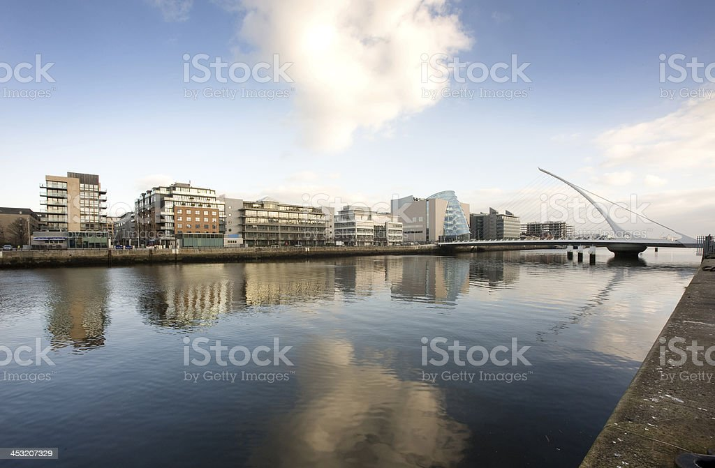 North wall Quay Dublin Docklands stock photo