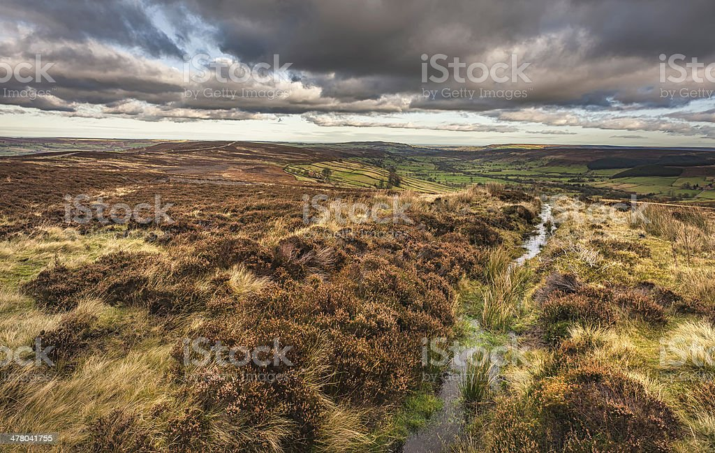 North York Moors in autumn, Glaisdale, Yorkshire, UK. royalty-free stock photo