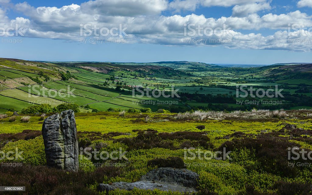 North York Moors in spring, Glaisdale, Yorkshire, UK. stock photo