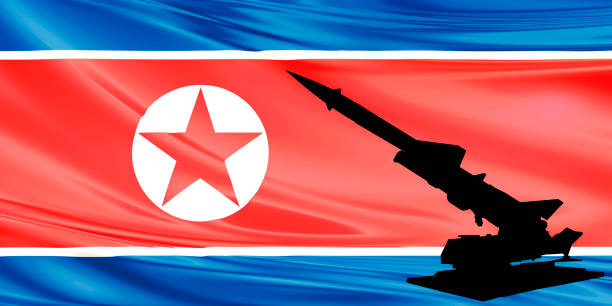 North_Korea_Flag and military power North_Korea_Flag and military power military parade stock pictures, royalty-free photos & images