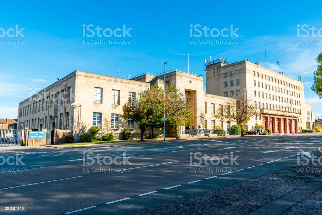 Northampton Fire Station and Magistrates Court building stock photo