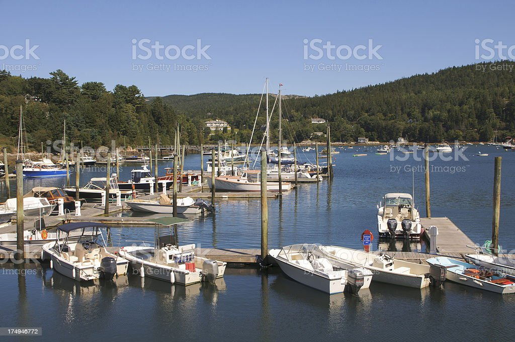Northeast Harbor Marina royalty-free stock photo