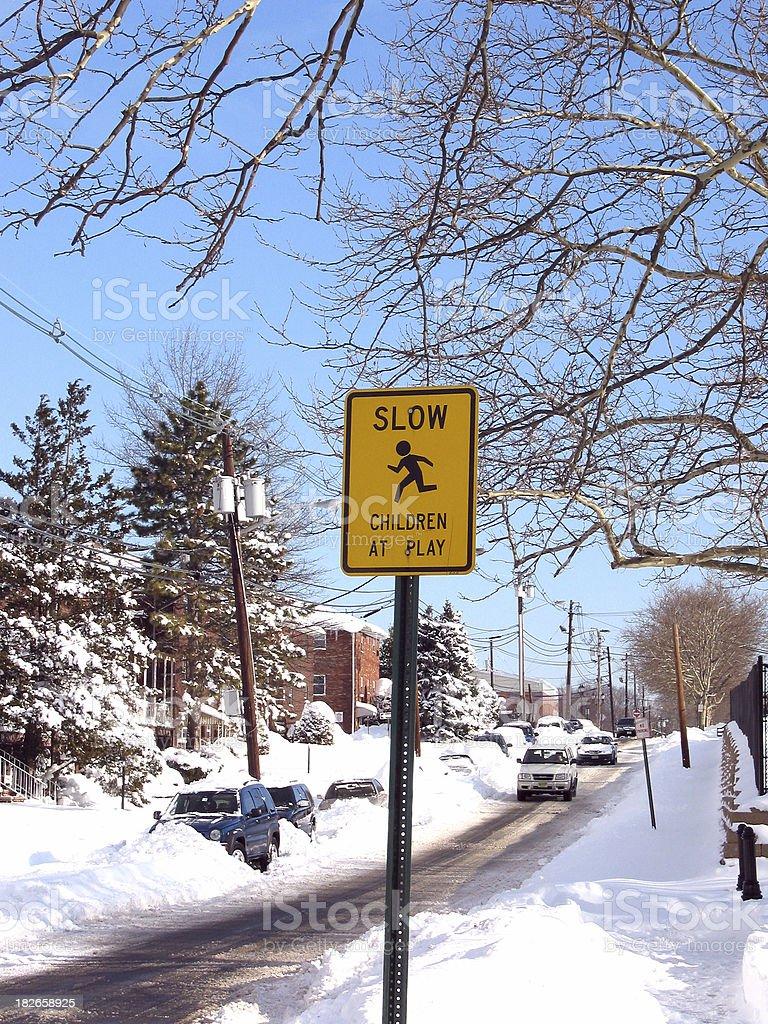 Northeastern Blizzard - Fort Lee 2006 stock photo