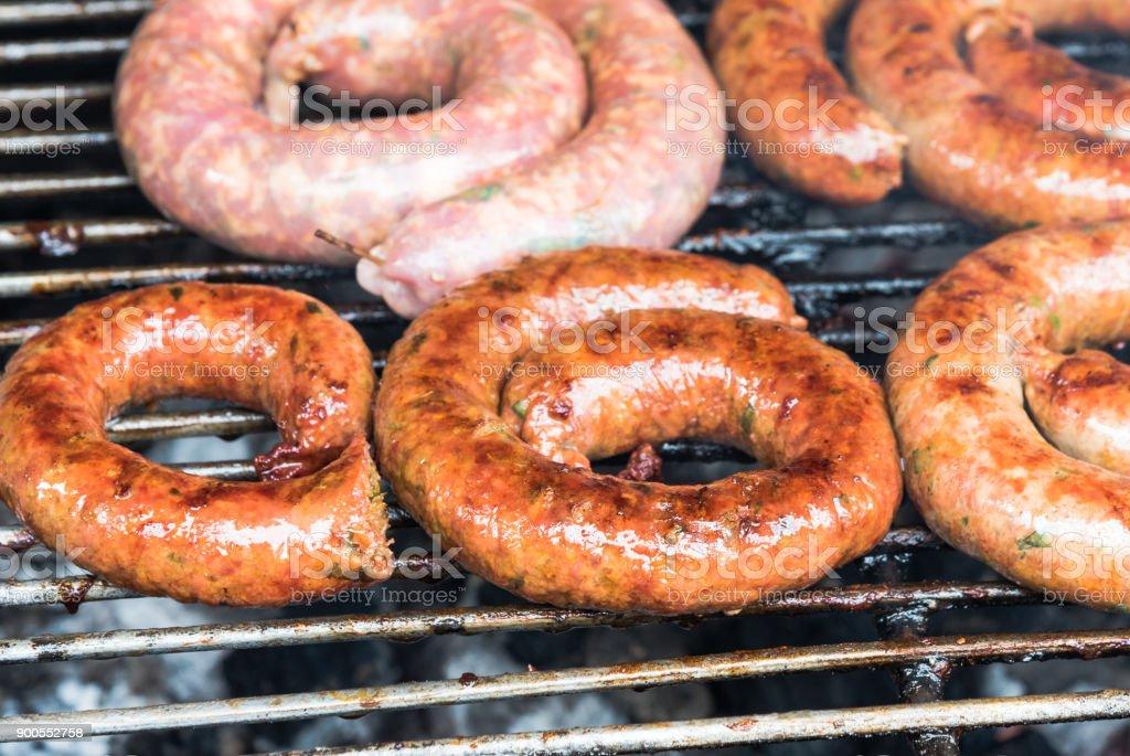 northen thai sausage, Sai Uao stock photo