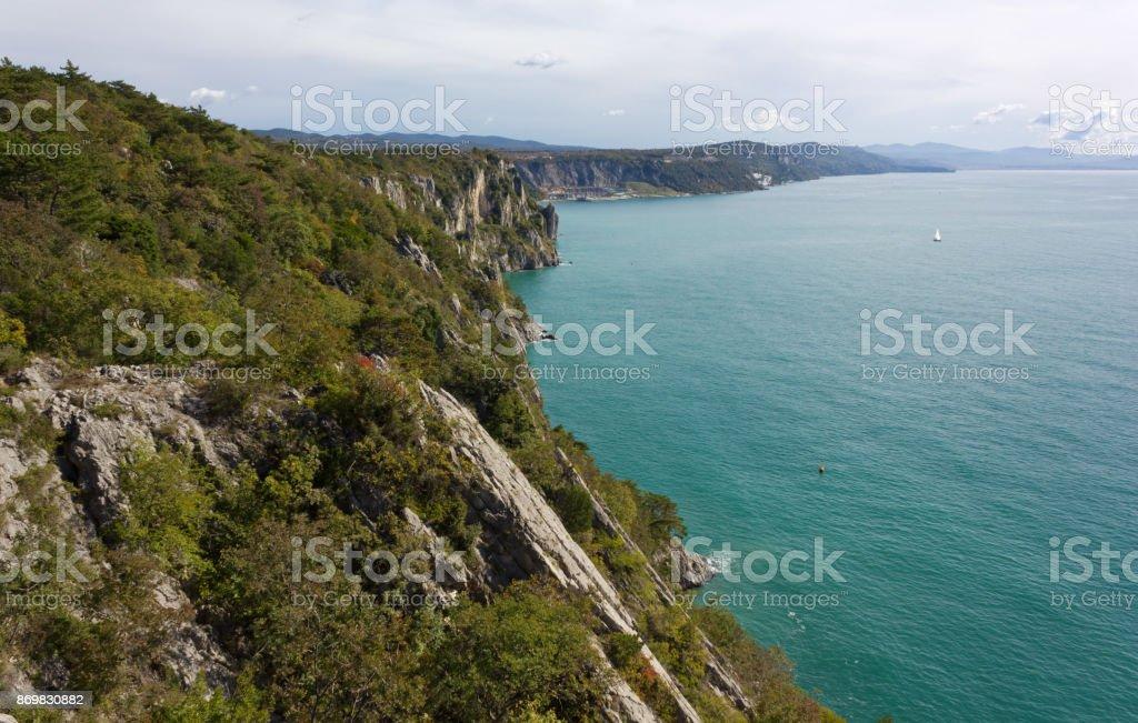 Northern Adriatic Coastline near Trieste stock photo