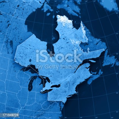 171057063 istock photo Northern America North East Topographic Map 171349224