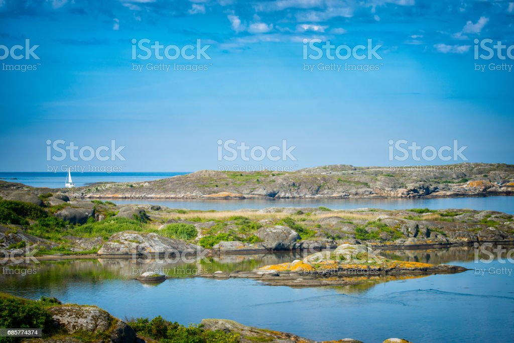Northern Archipelago of Gothenburg Sweden royalty-free stock photo