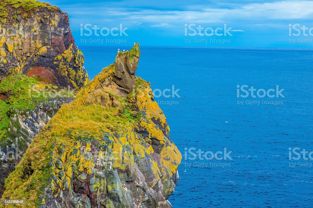 Northern Atlantic coast stock photo