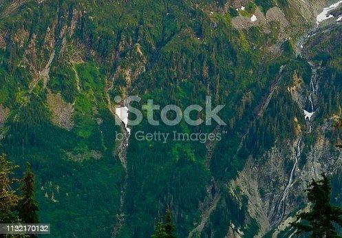 Northwest Washington's Cascade Range. North Cascades National Park/NW Edge. Mt. Baker-Snoqualmie National Forest. Near Mt. Shuksan/Huntoon Point.