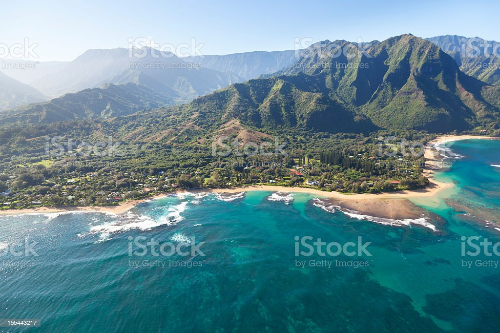 Northern Coastline, Kauai stock photo