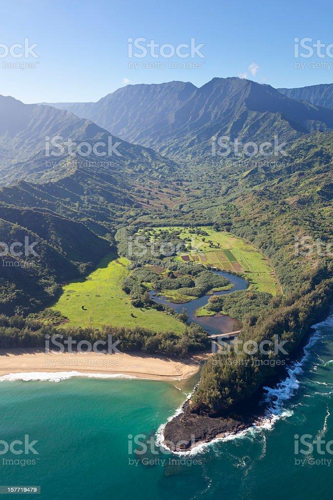 Northern Coastline, Kauai stock photo