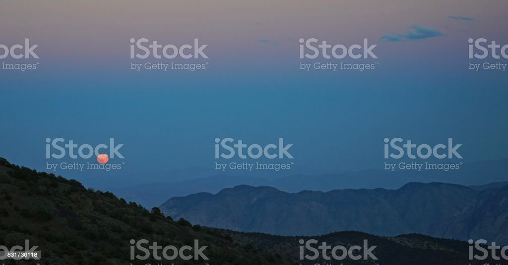 Northern Death Valley Moonrise stock photo
