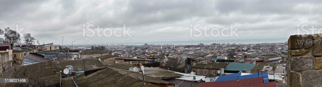 Northern Derbent panorama stock photo