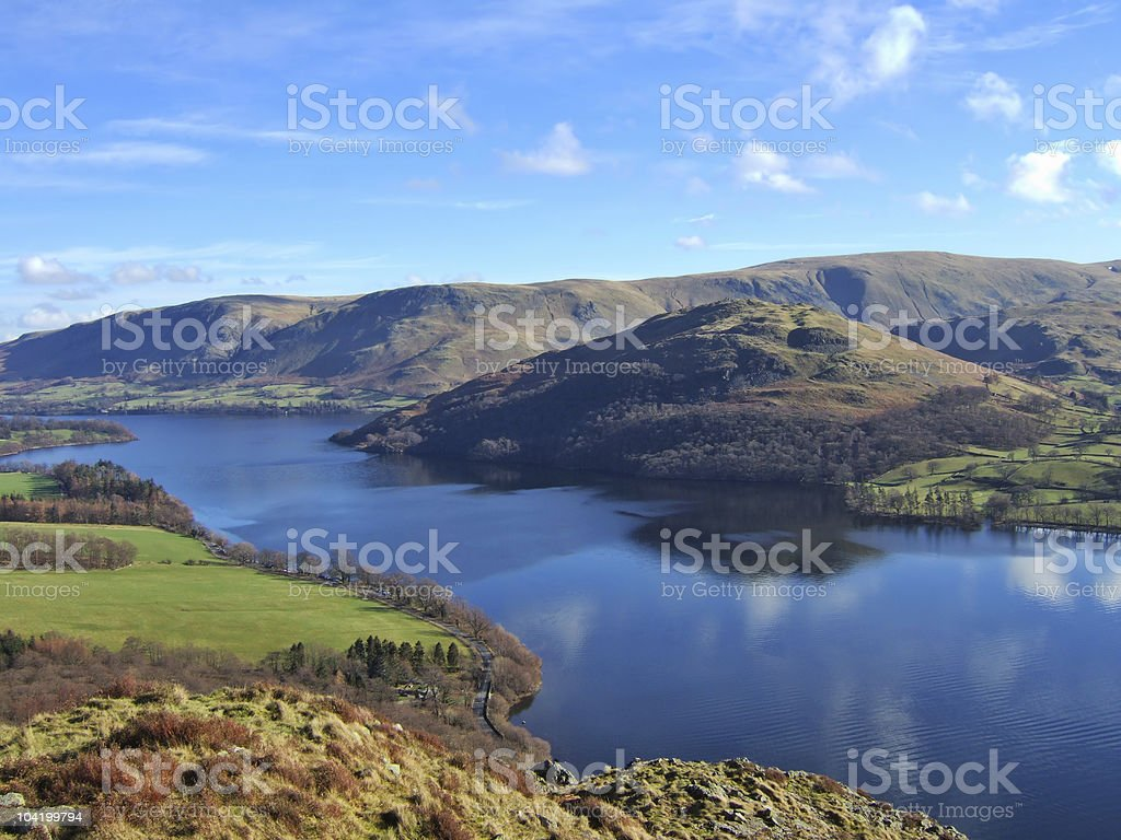 Northern end of Ullswater royalty-free stock photo