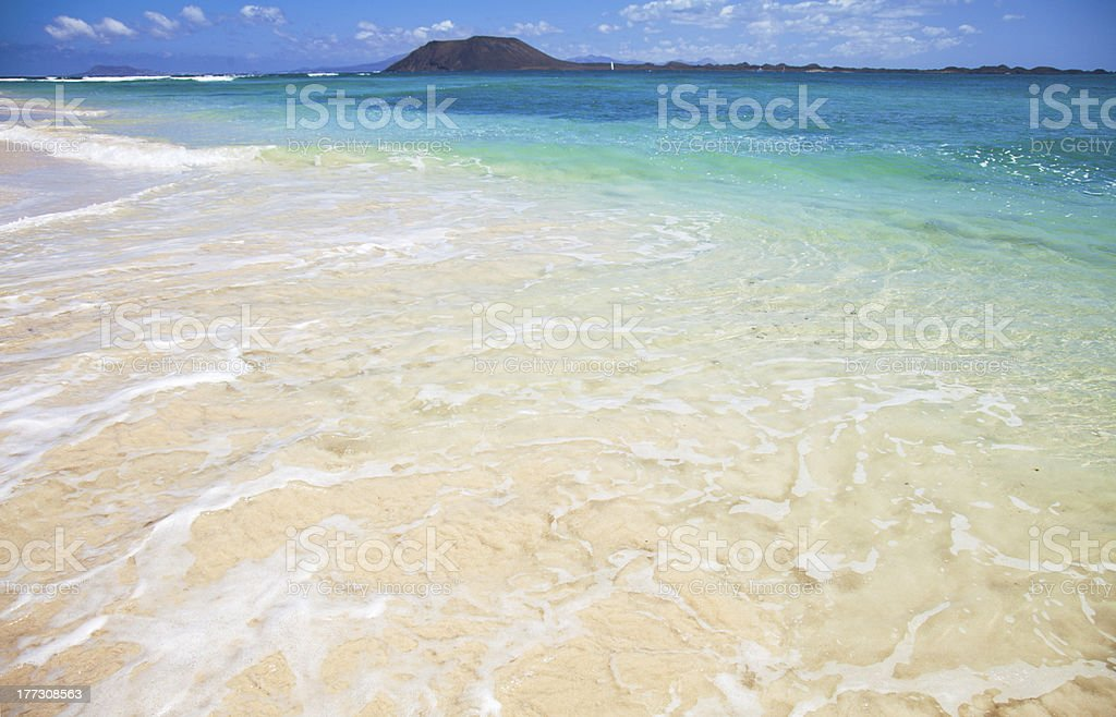 Northern Fuerteventura, Corralejo Flag Beach royalty-free stock photo