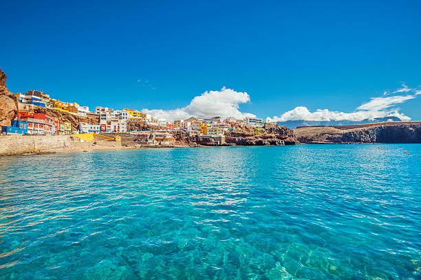 Northern Gran Canaria - Beautiful fishing village Sardina del Norte stock photo