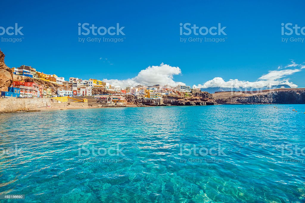 Northern Gran Canaria - Beautiful fishing village Sardina del Norte stock photo