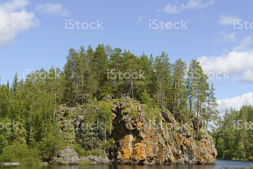 Northern landscape stock photo