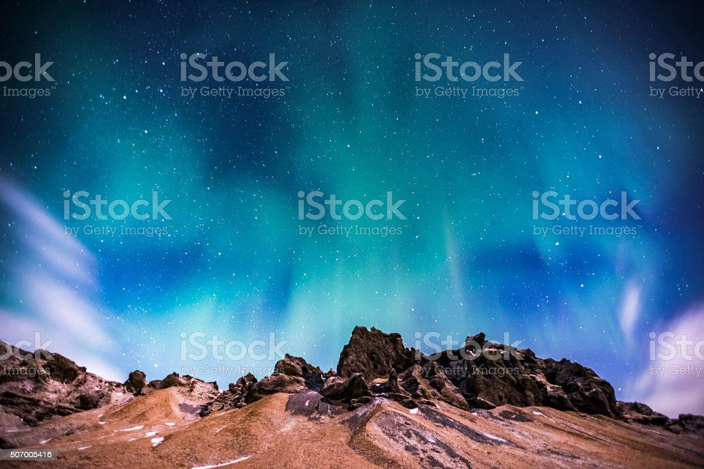 Northern Light in Iceland stock photo