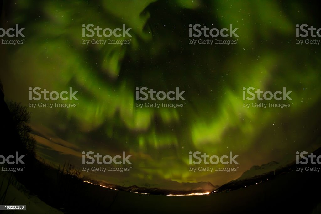 Northern light in Norway royalty-free stock photo